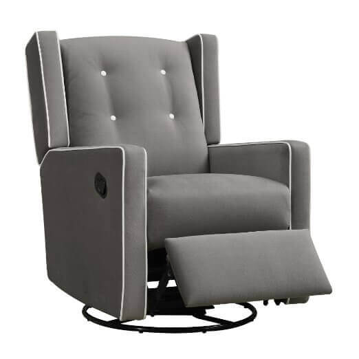 Charmant Baby Relax Mikayla Upholstered Swivel Gliding Recliner