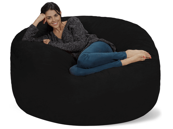 Chill Bag - Bean Bags Bean Bag Pillow, Huge, Charcoal