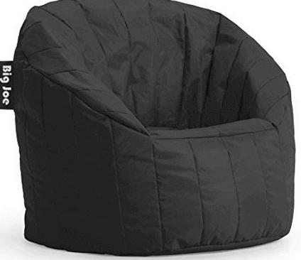 Big Joe Lumin Chair - Limo Black