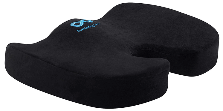 Everlasting Comfort 100% Pure Memory Foam Luxury Seat Cushion