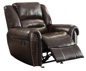 Homelegance 9668BRW-1 leather recliner