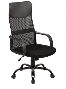 New Black Modern Fabric Mesh High Back Office Task Chair