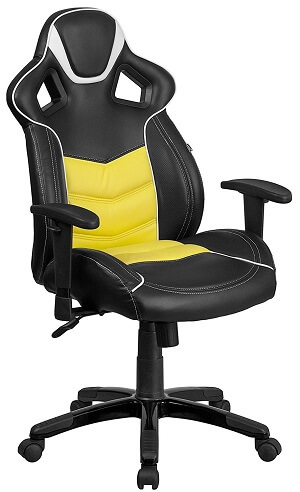 Flash Furniture High Back Canary Yellow Executive Gaming-Racing Swivel Chair
