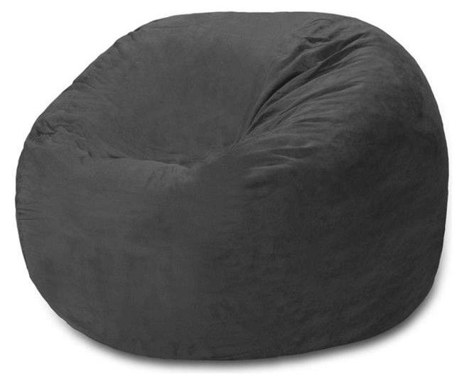 Comfy Sacks 3ft. Memory Foam Bean Bag Chair, Charcoal Micro Suede
