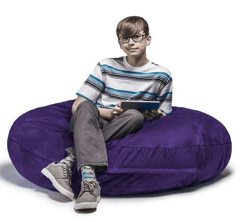 Jaxx Bean Bags Cocoon Junior Kids Microsuede Bean Bag, 4-Feet