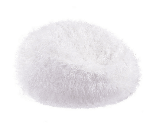 Acanva Large Plush Faux Fur Teardrop Slacker Bean Bag Chair