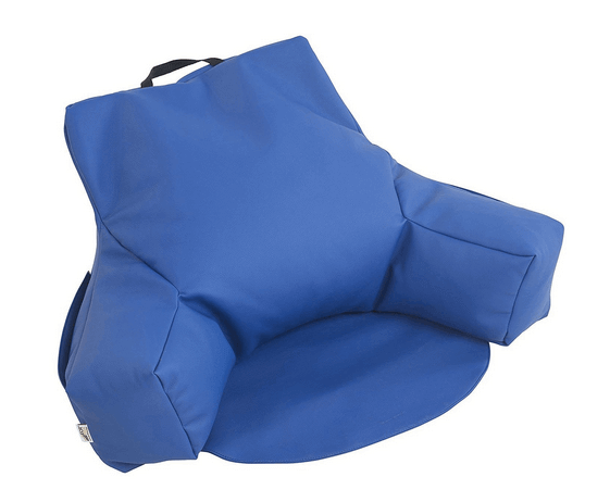 ECR4Kids Relax-N-Read Bean Bag Back Pillow Chair with Storage Pockets, Blue