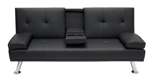 Best Choice Products Modern Entertainment Futon Sofa Bed Fold Up & Down Recliner Couch