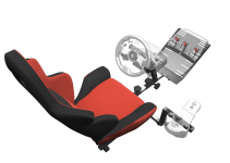 Openwheeler Racing Wheel Stand Cockpit Red on Black | For Logitech G29