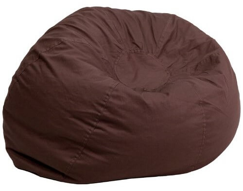 Oversized Solid Brown Bean Bag