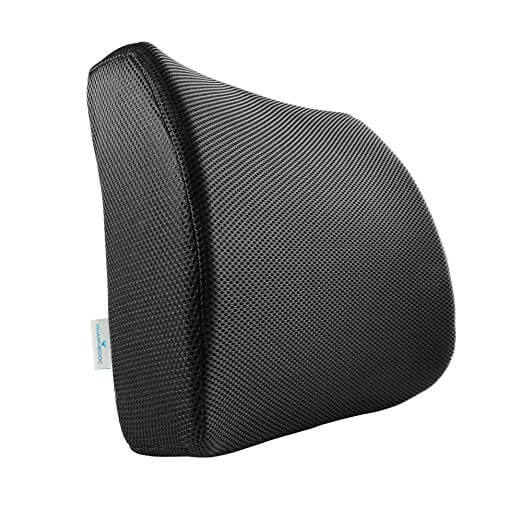 PharMeDoc Memory Foam Lumbar Support for Office Chair Car Seat